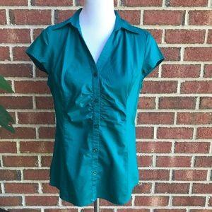 Ann Taylor Blouse Green Size 12 Petite